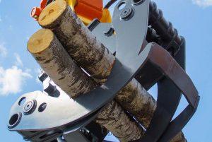 Bortforsling av träd vid fällning