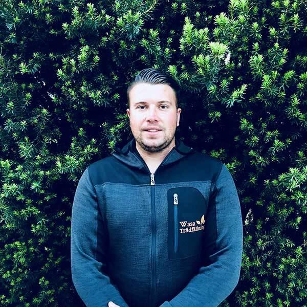 Viktor Rydelius ägare av Wasa Trädfällning